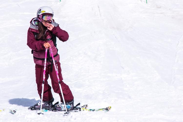 amel on her ski